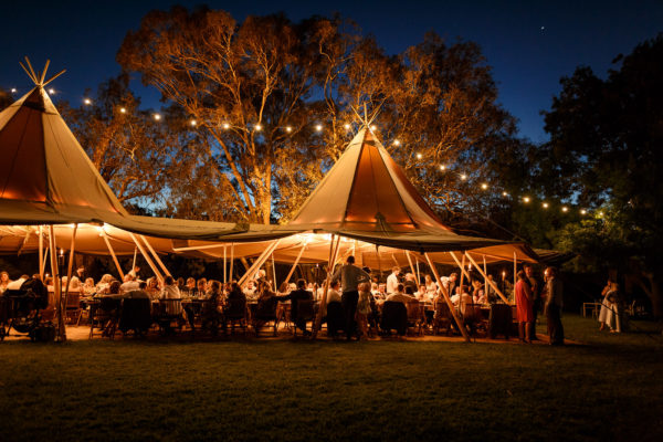 A Tipitipi alternative marquee hired for a wedding event